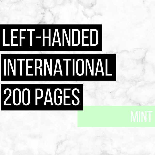 International Deluxe Left-Handed Family History Bundle - Mint (200-Page Digital Download)