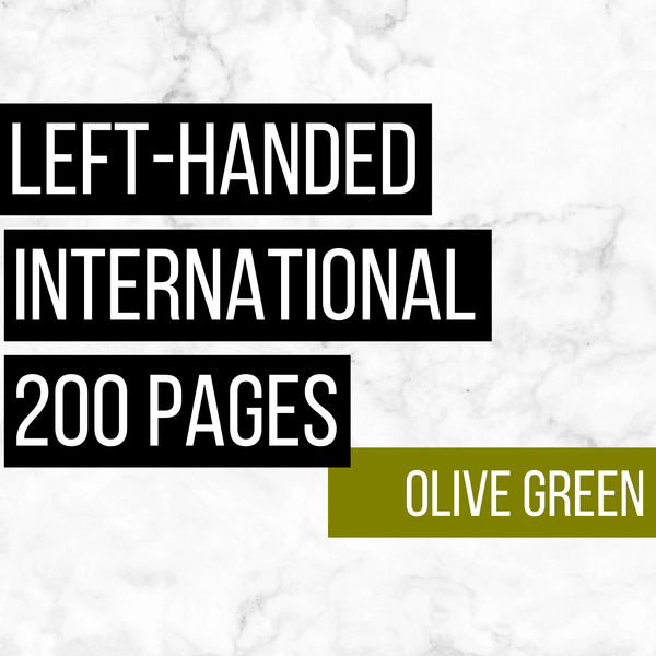 International Deluxe Left-Handed Family History Bundle - Olive Green (200-Page Digital Download)