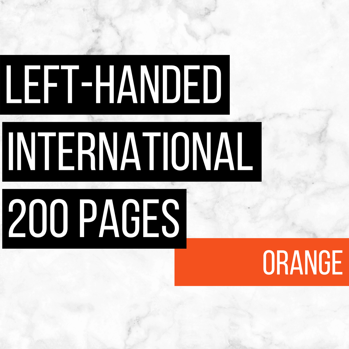 International Deluxe Left-Handed Family History Bundle - Orange (200-Page Digital Download)