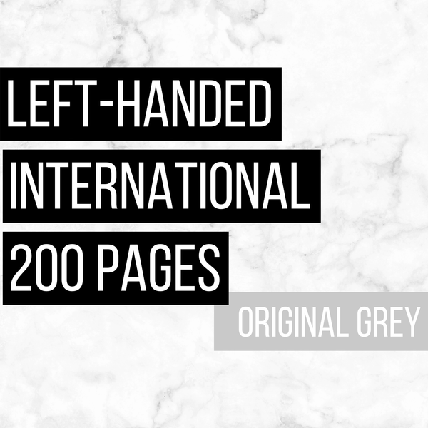 International Deluxe Left-Handed Family History Bundle - Original Grey (200-Page Digital Download)