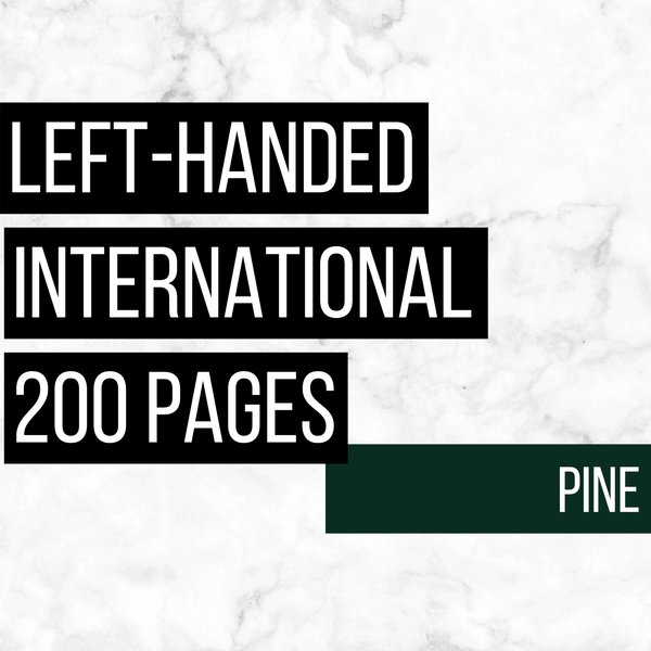 International Deluxe Left-Handed Family History Bundle - Pine (200-Page Digital Download)