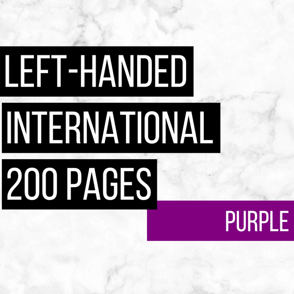 International Deluxe Left-Handed Family History Bundle - Purple (200-Page Digital Download)