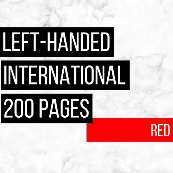International Deluxe Left-Handed Family History Bundle - Red (200-Page Digital Download)