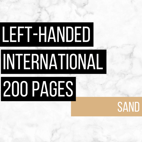 International Deluxe Left-Handed Family History Bundle - Sand (200-Page Digital Download)