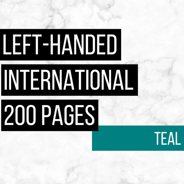 International Deluxe Left-Handed Family History Bundle - Teal (200-Page Digital Download)