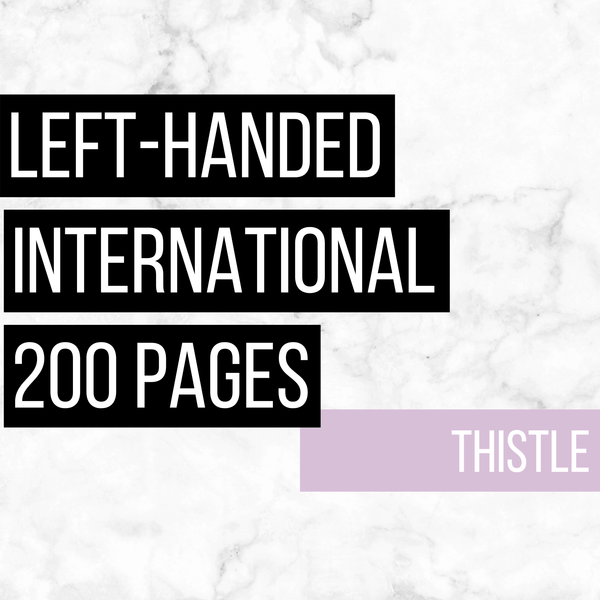 International Deluxe Left-Handed Family History Bundle - Thistle (200-Page Digital Download)