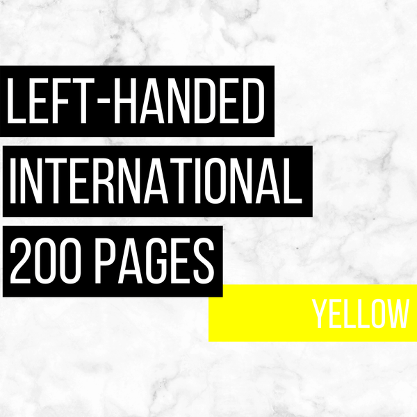 International Deluxe Left-Handed Family History Bundle - Yellow (200-Page Digital Download)