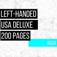 USA Deluxe Left-Handed Family History Bundle - Aqua (200-Page Digital Download)