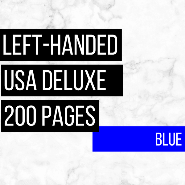 USA Deluxe Left-Handed Family History Bundle - Blue (200-Page Digital Download)