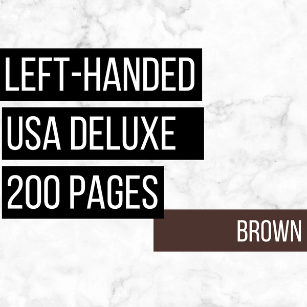 USA Deluxe Left-Handed Family History Bundle - Brown (200-Page Digital Download)