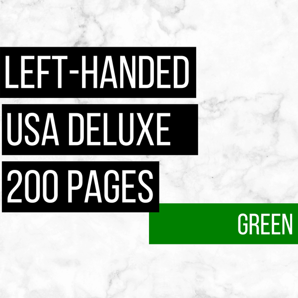 USA Deluxe Left-Handed Family History Bundle - Green (200-Page Digital Download)
