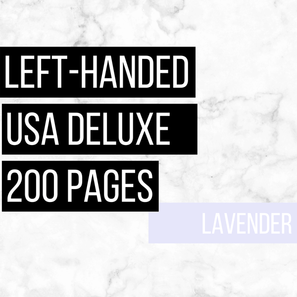 USA Deluxe Left-Handed Family History Bundle - Lavender (200-Page Digital Download)