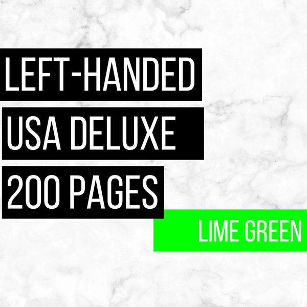 USA Deluxe Left-Handed Family History Bundle - Lime Green (200-Page Digital Download)