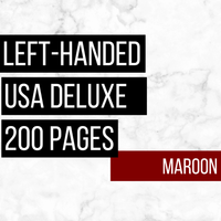 USA Deluxe Left-Handed Family History Bundle - Maroon (200-Page Digital Download)