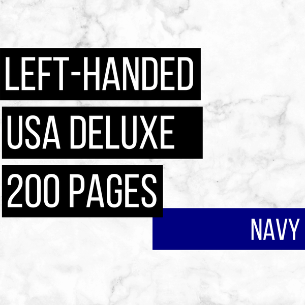 USA Deluxe Left-Handed Family History Bundle - Navy (200-Page Digital Download)