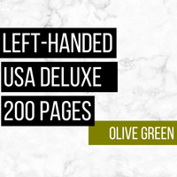 USA Deluxe Left-Handed Family History Bundle - Olive Green (200-Page Digital Download)