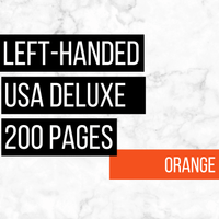 USA Deluxe Left-Handed Family History Bundle - Orange (200-Page Digital Download)