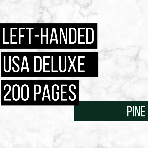 USA Deluxe Left-Handed Family History Bundle - Pine (200-Page Digital Download)