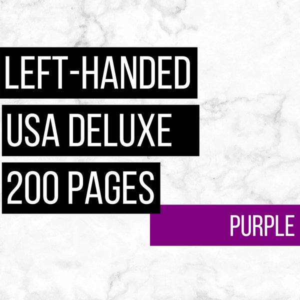 USA Deluxe Left-Handed Family History Bundle - Purple (200-Page Digital Download)