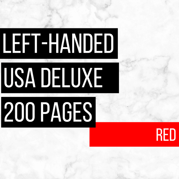 USA Deluxe Left-Handed Family History Bundle - Red (200-Page Digital Download)