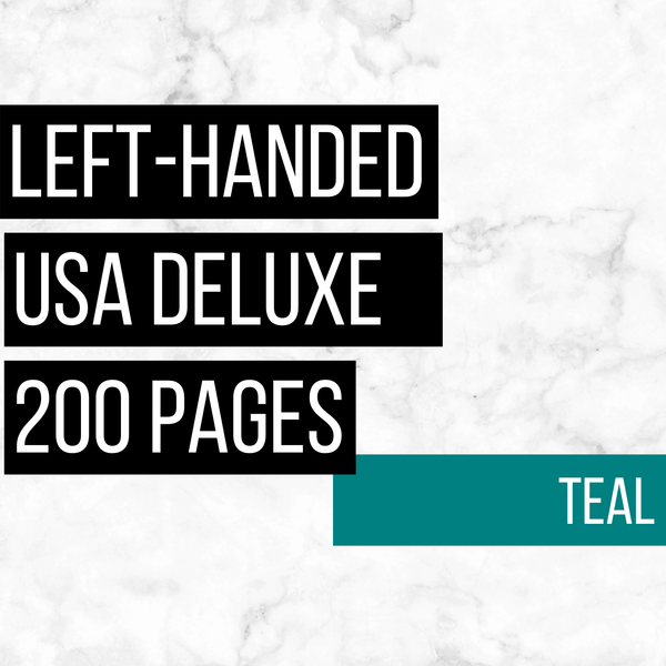 USA Deluxe Left-Handed Family History Bundle - Teal (200-Page Digital Download)