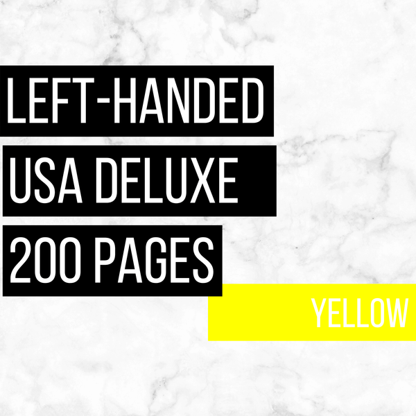 USA Deluxe Left-Handed Family History Bundle - Yellow (200-Page Digital Download)