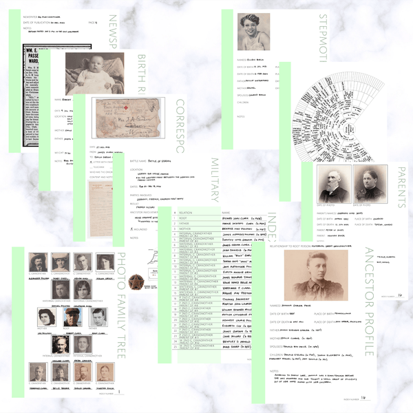 Deluxe 200 Page Family History Bundle - Mint (Digital Download)
