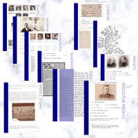 International Deluxe 200 Page Family History Bundle - Navy Blue (Digital Download) - Family Tree Notebooks