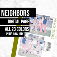 Neighbors Page: Printable Genealogy Form (Digital Download) - Family Tree Notebooks