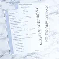 Passport Application Pages: Printable Genealogy Form (Digital Download)