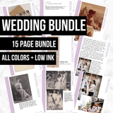 Wedding Bundle: Printable Genealogy Forms for Family History Research (Digital Download)