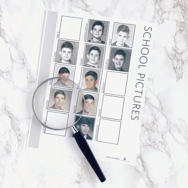 School Pictures: Printable Family History Form for Genealogy (Digital Download)