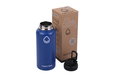 32 oz Blue Water Bottle
