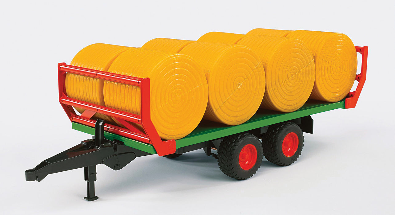 Bruder Hay Bale Trailer with 8 Bales
