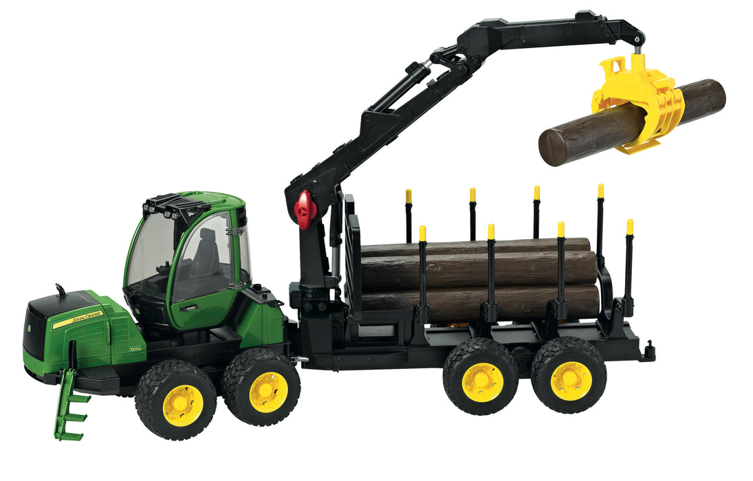 Bruder John Deere 1210E Forwarder with Grabber & Logs