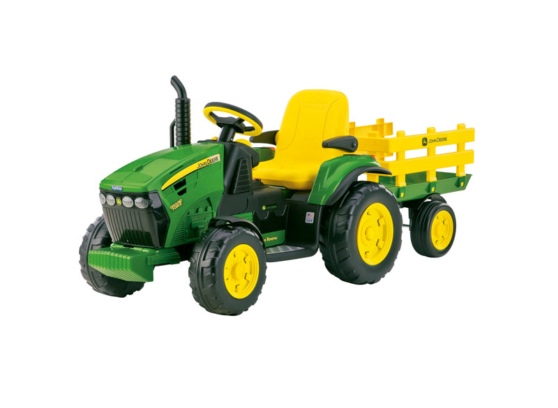 John Deere Ground Force 12v Tractor & Trailer