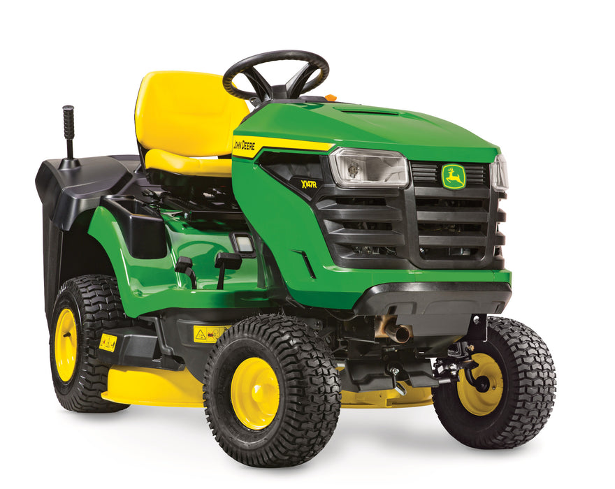 John Deere X147R Ride-On Mower (with FREE Thatcherator)