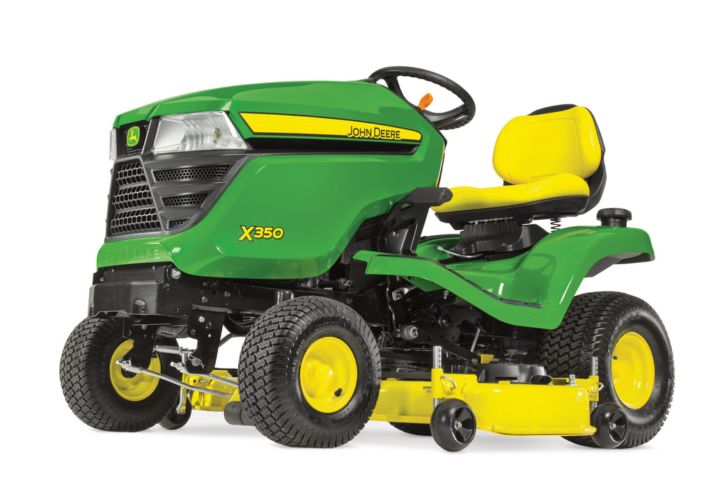 John Deere X350 Ride-On Mower (with FREE Thatcherator)