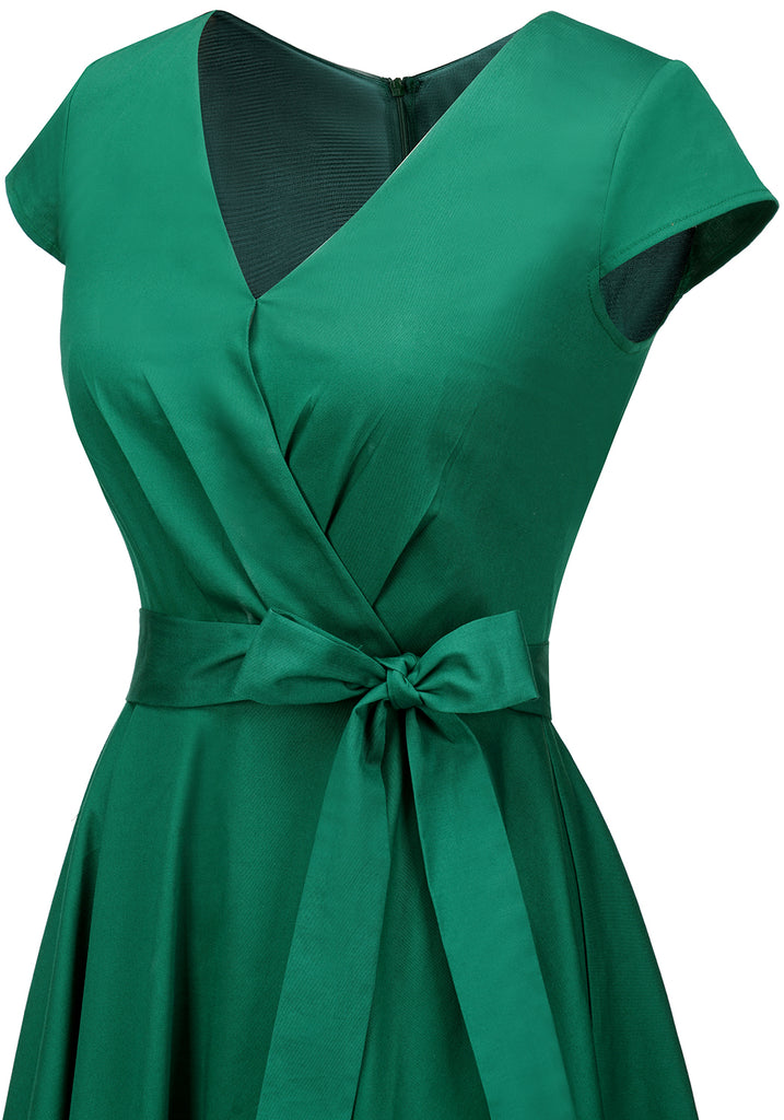 Women's Short 1950s Vintage Cocktail Dress Rockbilly Retro Swing Dress