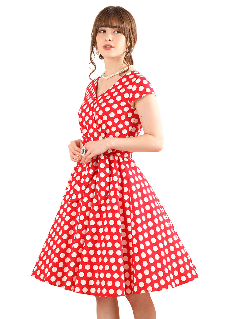 BeryLove Womens 1950s Vintage Pleated Rockbilly Dress Cap Sleeves Cocktail Party Swing Dress