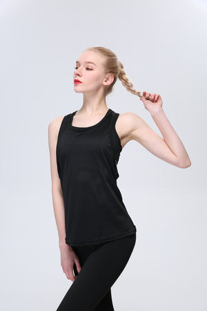 Racerback Fashion Athletic Yoga Tops Running Exercise Gym Shirts Workout