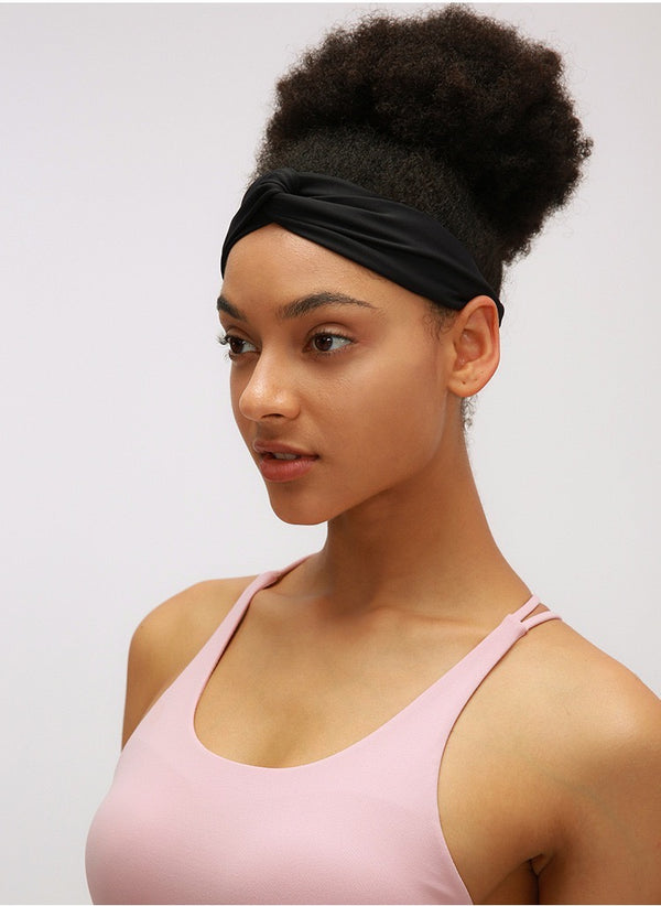 Elastic cross yoga headband