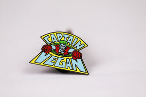 Captain Vegan Pin