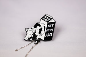 Ditch Dairy Cow Pin