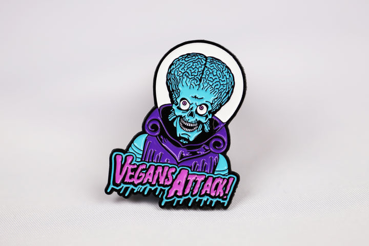 Vegans Attack! Pin