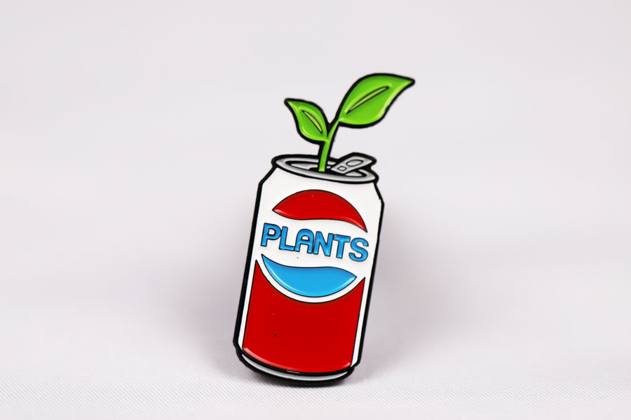 Plants Soda Pin
