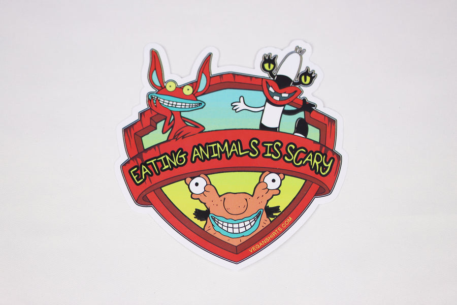 Eating Animals is Scary Sticker