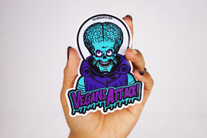 Vegans Attack! Sticker