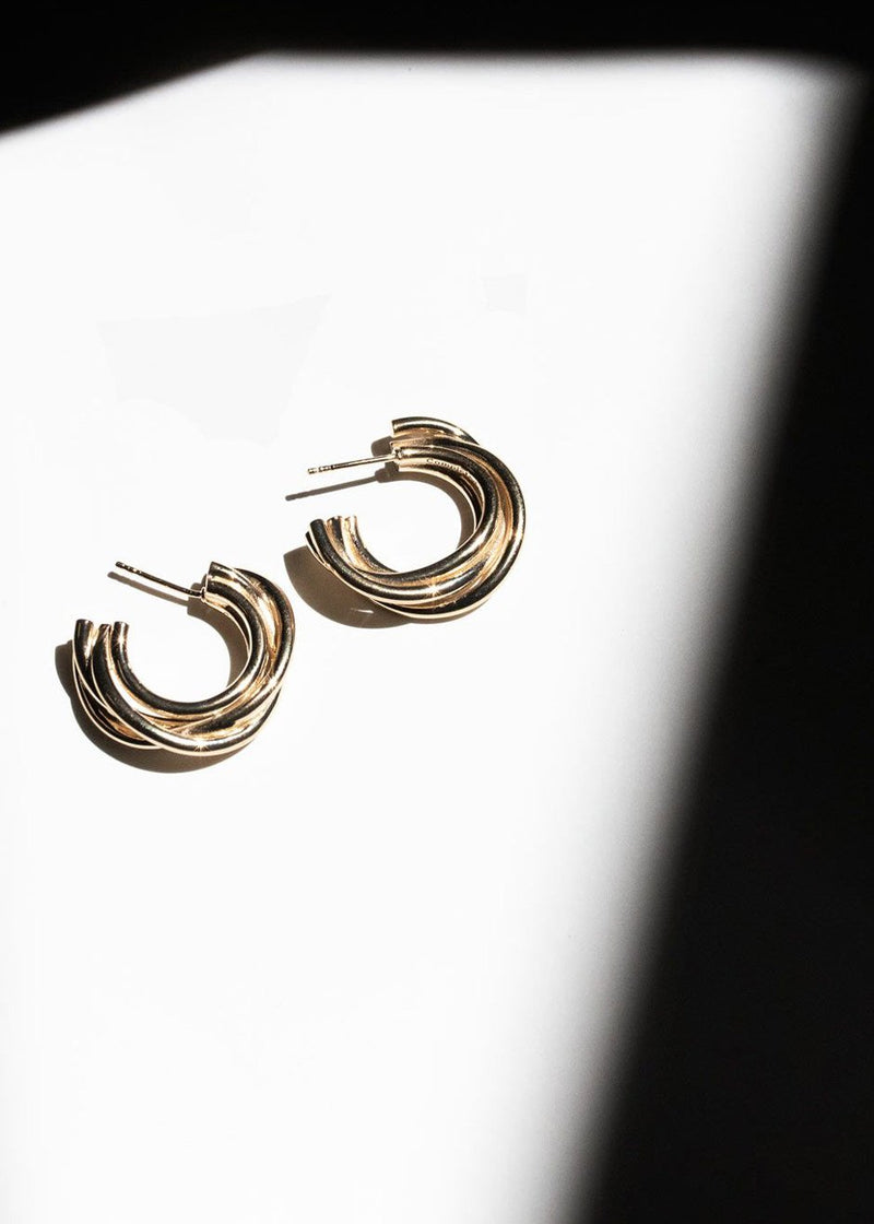 Encounter Earrings by Completedworks in Gold