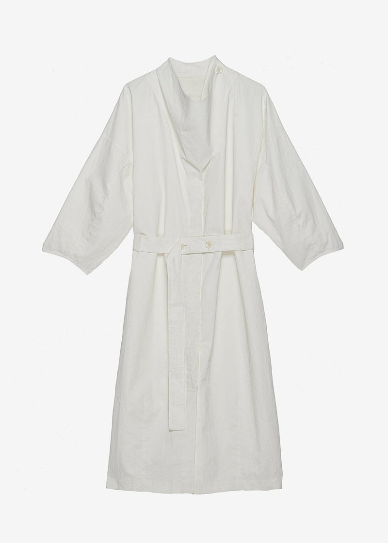 Guillemx Wrap Neck Belted Dress Aeron in White